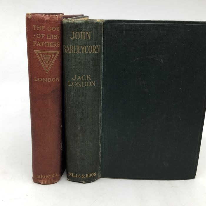 Jack London - First editions: John Barleycorn or alcoholic memoir + The God of his Fathers: Tales of the Klondyke. - 1902/1914