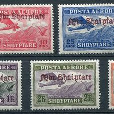 Albania 1929 - Airmail, complete series, mint, signed. - Yvert n° 22/28