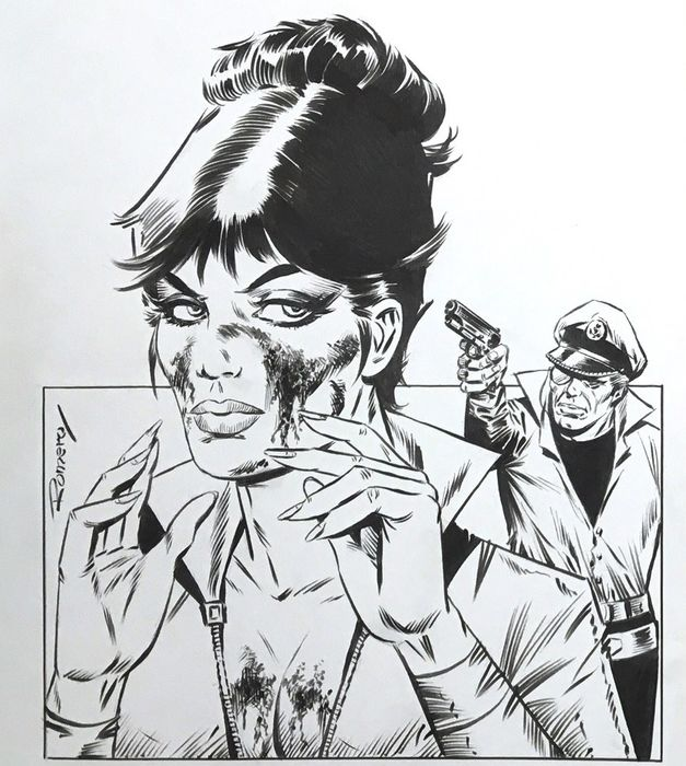 Romero, Enrique Badia - Originele cover - Modesty Blaise - (2016)