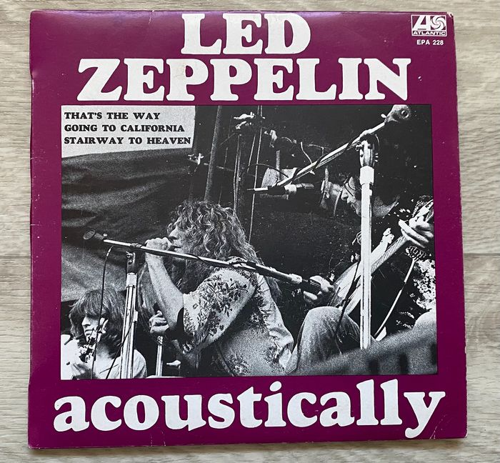 Led Zeppelin - Acoustically - 45-toerenplaat (Single) - 1975