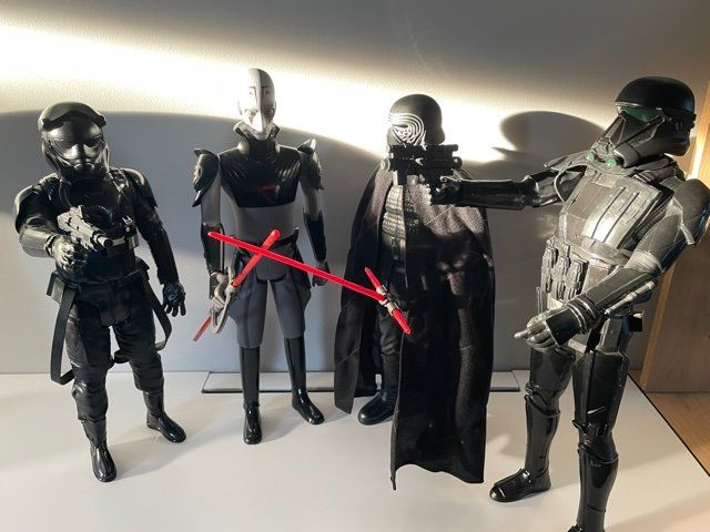Star Wars - Lot of 4 - Kylo Ren / Death Trooper / Pilot First Order / Rebel Inquisitor - Jakks Pacific - Beeldje(s), 45 cm each