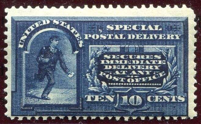United States of America 1888 - Special Delivery, 10c. blue, variety 'any Post Office' - Scott Special Delivery E2