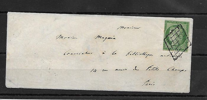 France 1850 - Letter with No. 2. - Yvert