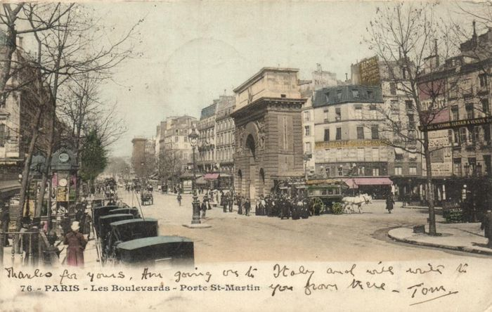 France - Paris before 1906 -Various streets - mostly light prints from the city center - very old !!! - Postcards (Collection of 308) - 1899-1906