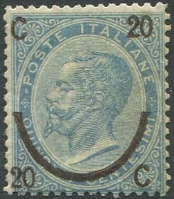 Italy Kingdom 1865 - Horseshoe 15 c. of the second type - Sassone N. 24