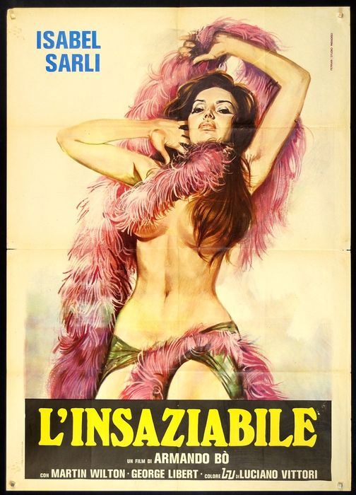 Insaciable / The Insatiable Widow (1976) - Isabel Sarli - Poster, Original Italian Cinema release - 140x100 cm / 2F