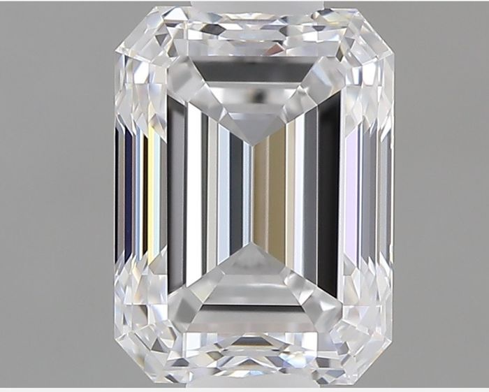 1 pcs Diamante - 1.00 ct - Esmeralda - E - IF (Inmaculado)
