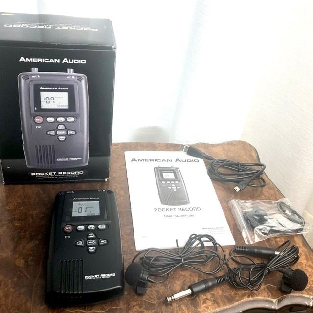 American Audio - Pocket Record - Portable SD Digital Recorder with Built-In Stereo - Microphone à condensateur - 2020