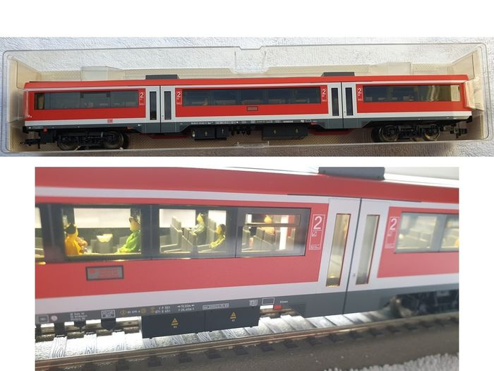 Fleischmann H0 - 5654K - Passenger carriage - Mode with LED interior lighting, figures - DB