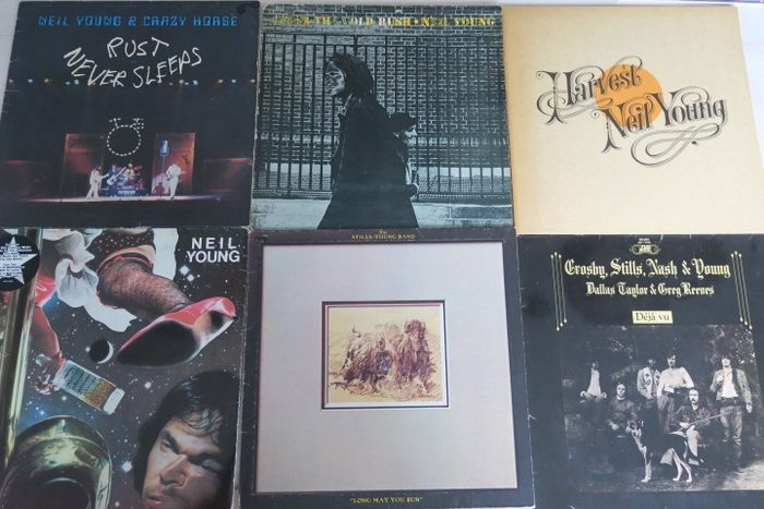 Crosby, Stills, Nash & Young & Related, Neil Young & Related - Titoli vari - LP - 1970/1979