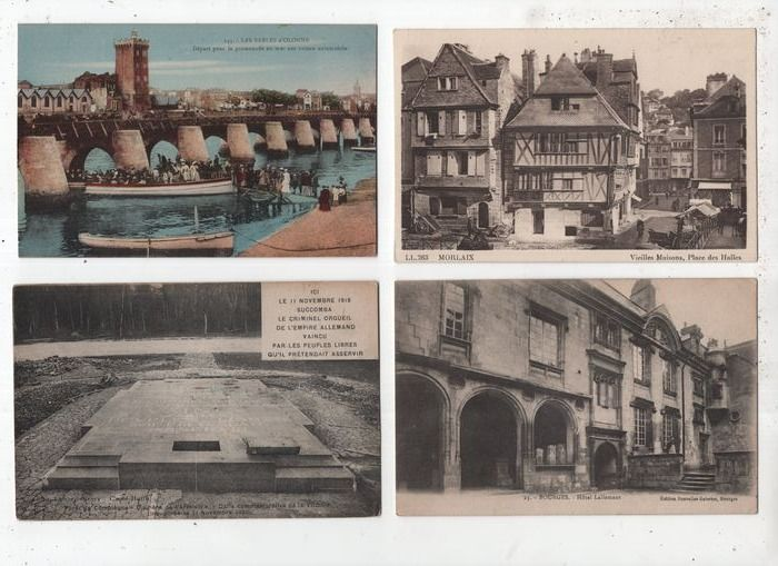 France - Collection of city and village views - Postcards (Collection of 124) - 1900-1950