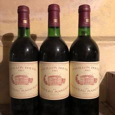 1983 Pavillon Rouge du Chateau Margaux, 2nd wine of Ch. Margaux - Margaux - 3 Flaschen (0,75 l)