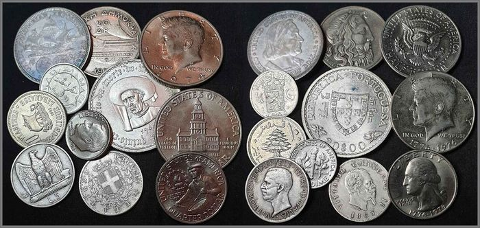 World. Lot various coins 1863/1974 (11 pieces)