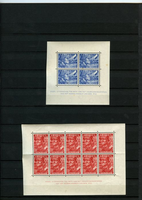 World - The Netherlands Legion blocks and stamps + Belgian Congo