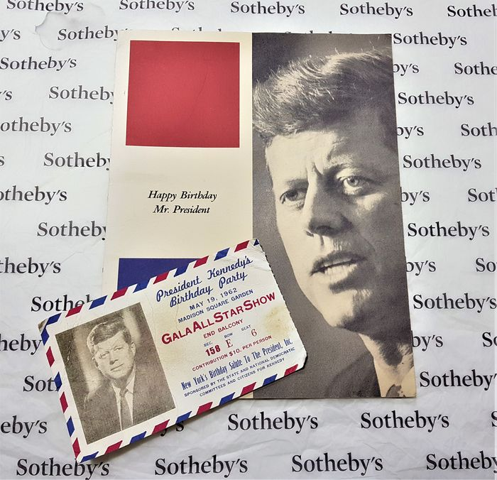 Marilyn Monroe - Happy Birthday Mr. President ! - Lot of 2 - President John F. Kennedy's Birthday Party Gala (May 19, 1962) Original Ticket & Program