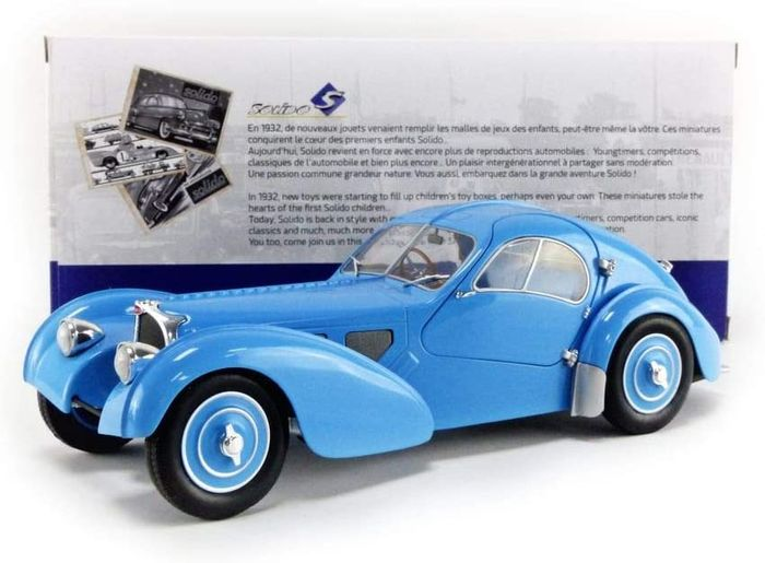 Solido - 1:18 - Bugatti Type 57 SC Atlantic - T35 Blue