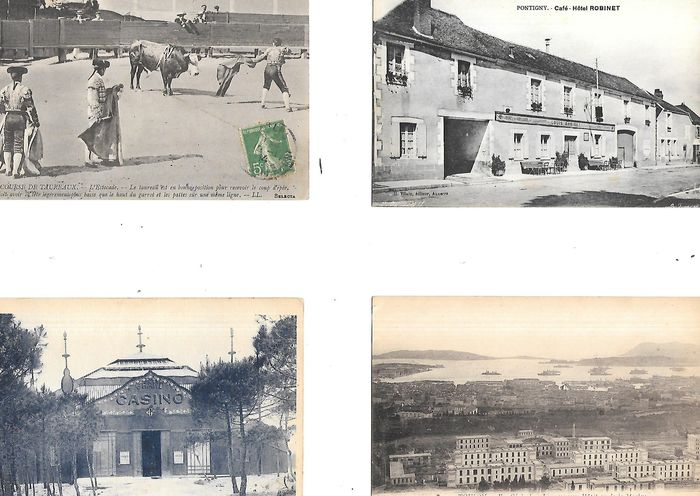 France - various regions villages towns - Postcards (Collection of 100) - 1890-1920