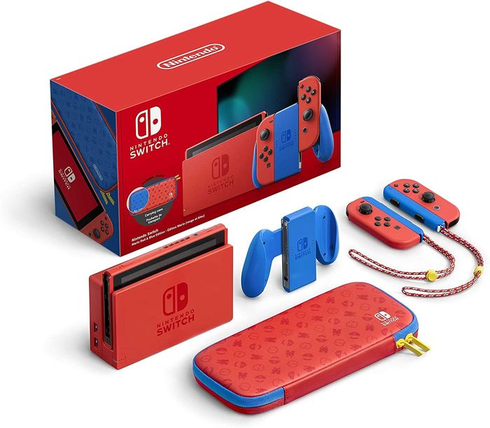 Nintendo, Nintendo Switch Limited edition Mario (Red & Blue) Switch - Console