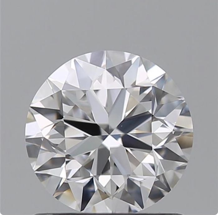 1 pcs Diamante - 1.00 ct - Brillante - E - VVS2
