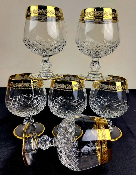 Cristal d'Arques, Francia Arc Holdings - Large red wine glasses (6) - Crystal