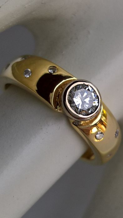18 kt Gold - Ring - 0.35 ct Diamant - Diamanten
