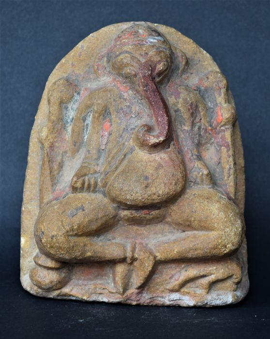 Stèle (1) - Pierre - Ganesh - Inde - 18th/19th century