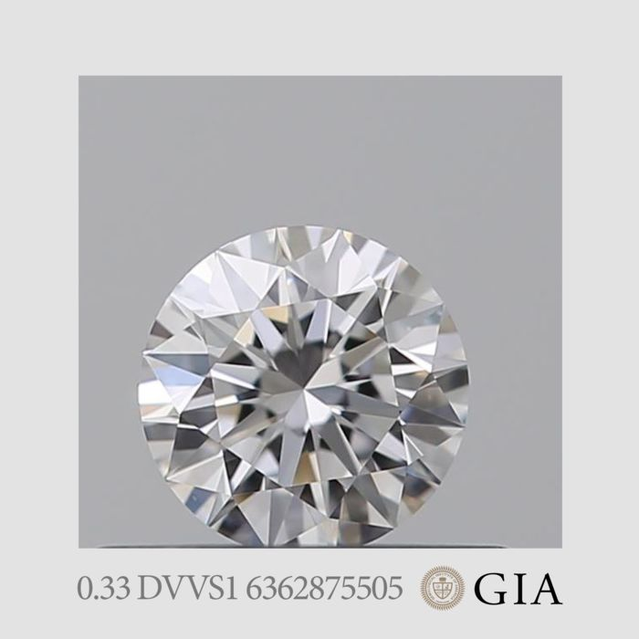 1 pcs Diamant - 0.33 ct - Briljant - D (kleurloos) - VVS1, *3EX*  *No Minimum Price*