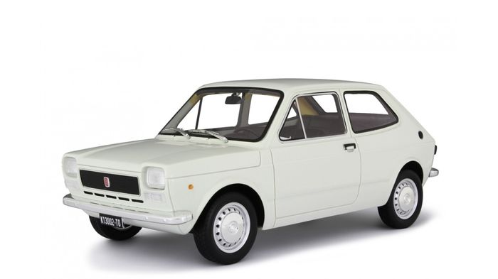 Laudoracing - 1:18 - Fiat 127 Serie 1 - 1972 - Wit - Limited to 350 pieces!