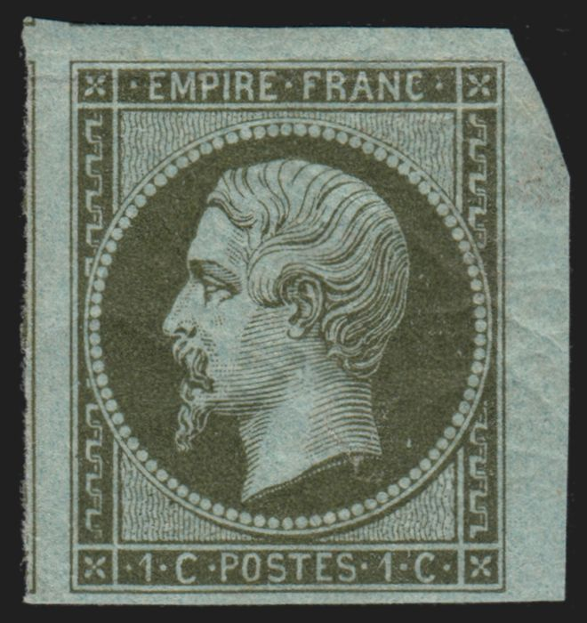 Frankrijk 1860 - Napoleon, 1 centime olive, mint* with trace of hinge. - Yvert n° 11