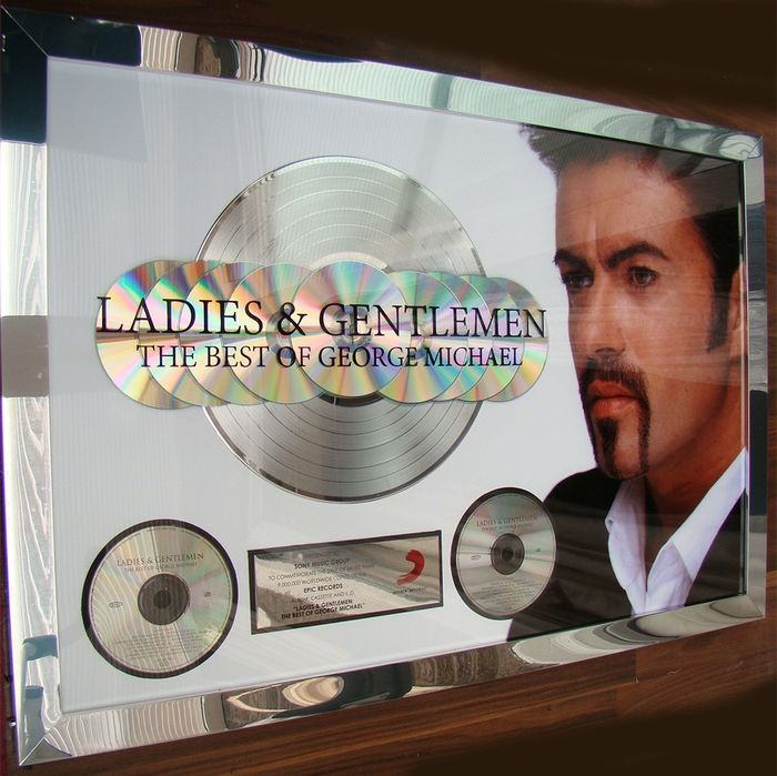 "George Michael - ""Ladies & Gentlemen The Best of "" 9 Million Sony Records Sales Award Rare - Offizieller hauseigener Award - 1998/2005"