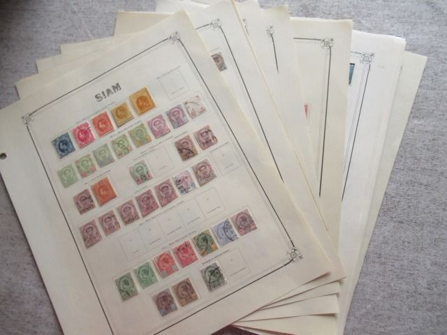 Siam und Thailand - A virtually complete collection of stamps