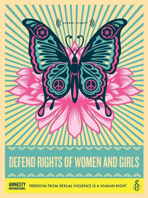 Shepard Fairey (OBEY) - Defend the Rights of Women and Girls - 2012