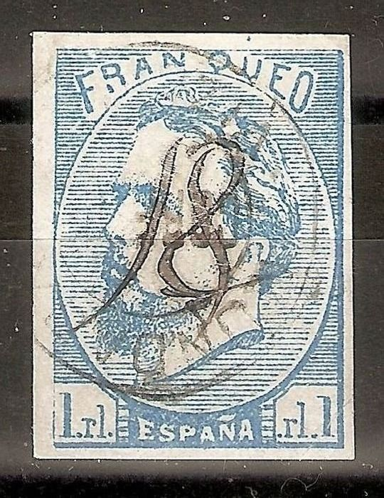 Spanje 1873 - Carlist post. Numeral 18 from Mundaca - Edifil 156
