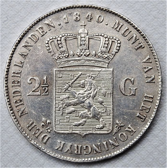 Netherlands. Willem I (1813-1840). 2 1/2 Gulden 1840