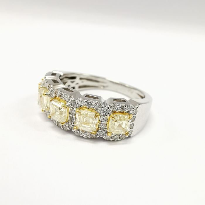 natural top top quality vvs - 14 kt Weißgold - Ring - 2.70 ct Diamant - AIG No Reserve zertifiziert