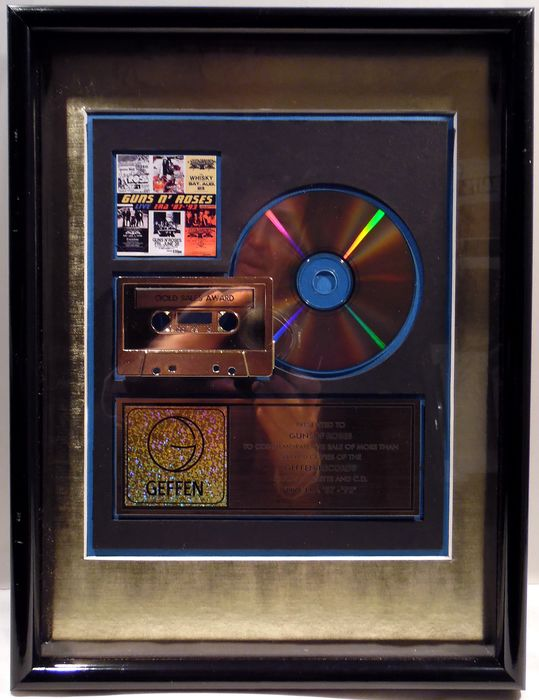 Guns 'n Roses - Live Era 87-93 - presented to Guns N' Roses - Officieel in-House award - 2000/2000