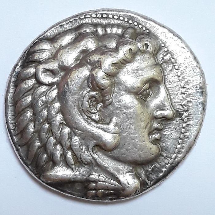 Kings of Macedonia. Alexander III (336-323 BC). AR Tetradrachm,  uncertain mint in Cilicia (possibly Side), struck under Philotas or Philoxenos, 323-317 BC