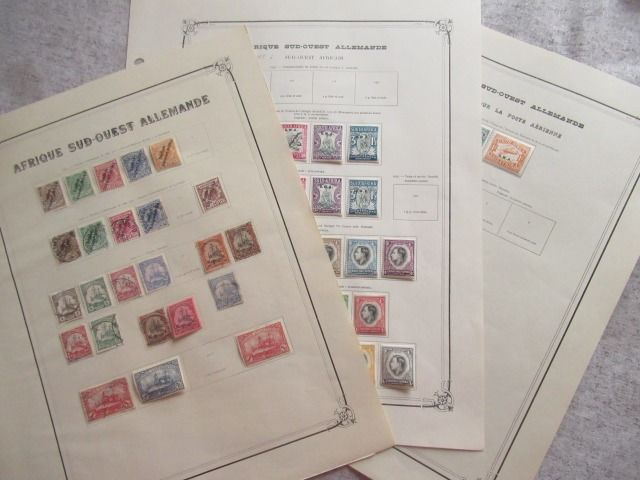 German South West Africa - A virtually complete collection of stamps