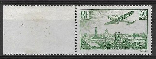 France - France, airmail, No. 15, mint without hinge** deluxe. VF - Signed Calves.