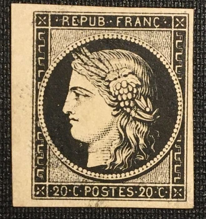France 1849 - classic stamps, Ceres 20 cts black - Yvert 3