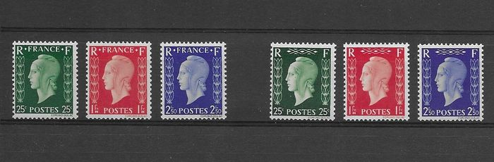 France - France, unissued London series No. 701 A/F, mint without hinge ** deluxe.
