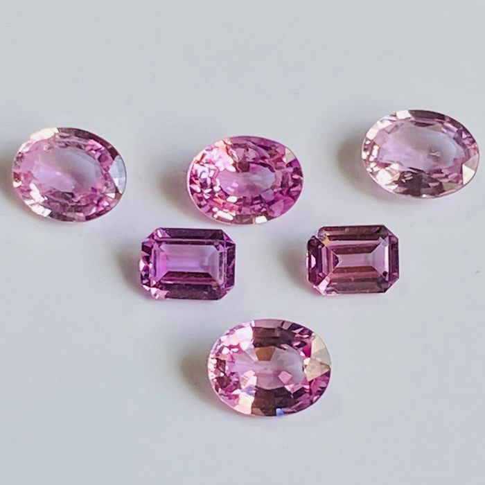 6 pcs  Zafiro - 1.90 ct