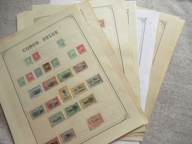 Belgisch-Congo - A virtually complete collection of stamps