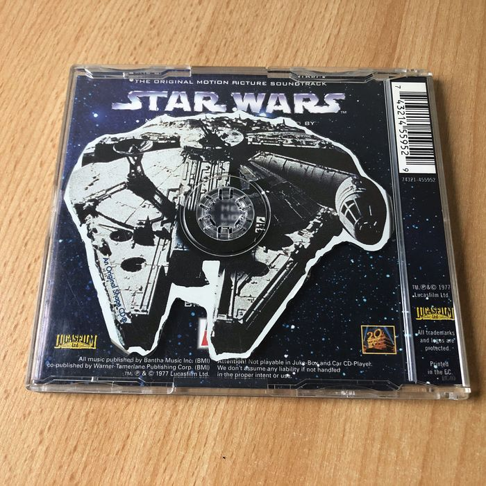 Star Wars Episode IV: A New Hope - Ultra Rare Millennium Falcon Shaped CD - Cancelled 1997 Pepsi Promo - Only 18 pieces worldwide! - Soundtrack CD
