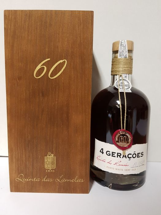 "Quinta das Lamelas ""4 Geraçoes"" 60 years old White Tawny Port - 1 Jennie (0,5 L)"