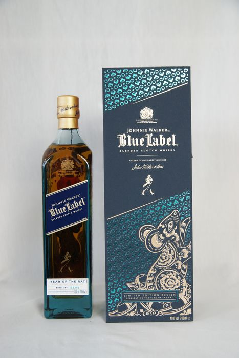 "Johnnie Walker Blue Label ""Year of the Rat"" - b. 2020 - 700ml"