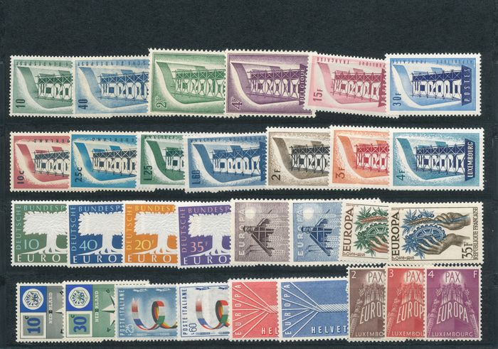 Europe 1956/1984 - CEPT 1956-1984, without the block issues, 29 different years - Michel