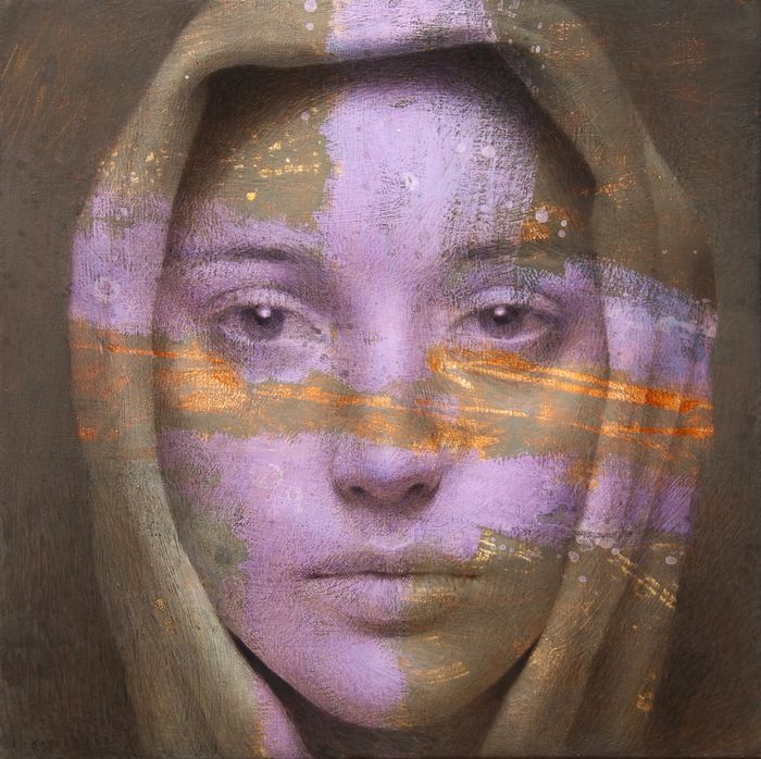 Michal Lukasiewicz - Young Woman With Purple