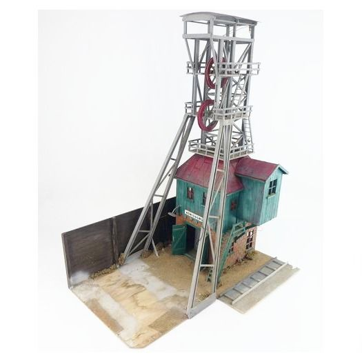 "Zelfbouw G - Scenery - Mine lift / shaft ""Konigsgrube"" with engine room"