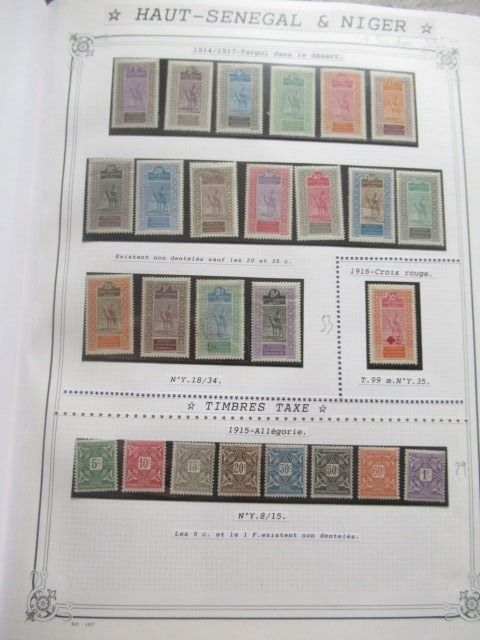 Ehemalige französische Kolonien - Very advanced collection of stamps, volume 2